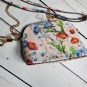 Aldo CrossBody and Clutch Pink Floral